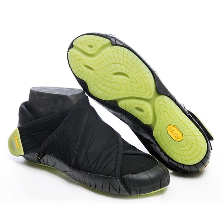 Vibram FiveFingers Furoshiki Neoprene Low - Innovative Neoprene Shoe Wrap Black/Lime Size:XL (10-11)