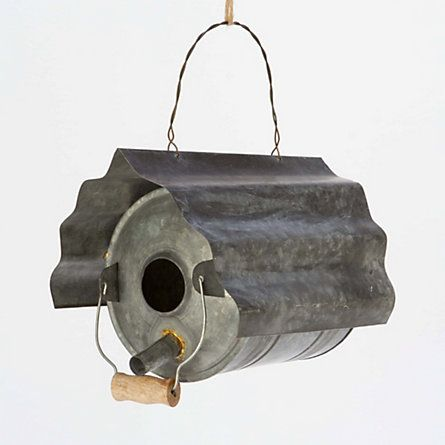 Repurposed Zinc Birdhouse