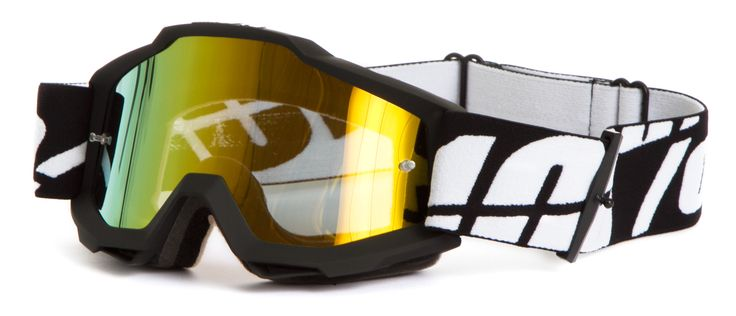 100% Kids Crossbrille The Accuri Black Tornado, Gold - verspiegelt 2015