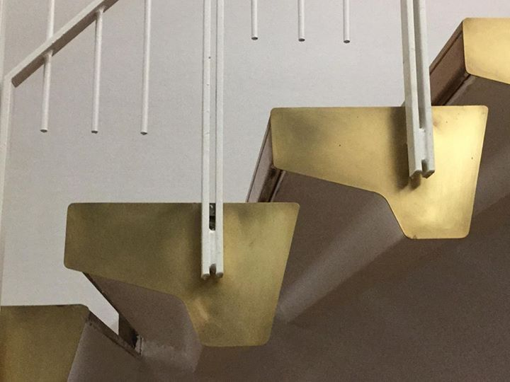 Detail of the stairs. PAC - Padiglione d'Arte Contemporanea Milano - Ignazio Gardella 1948.