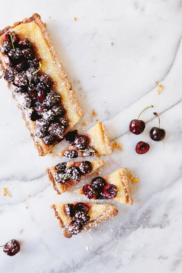dark cherry buttermilk tart recipe | coco+kelley