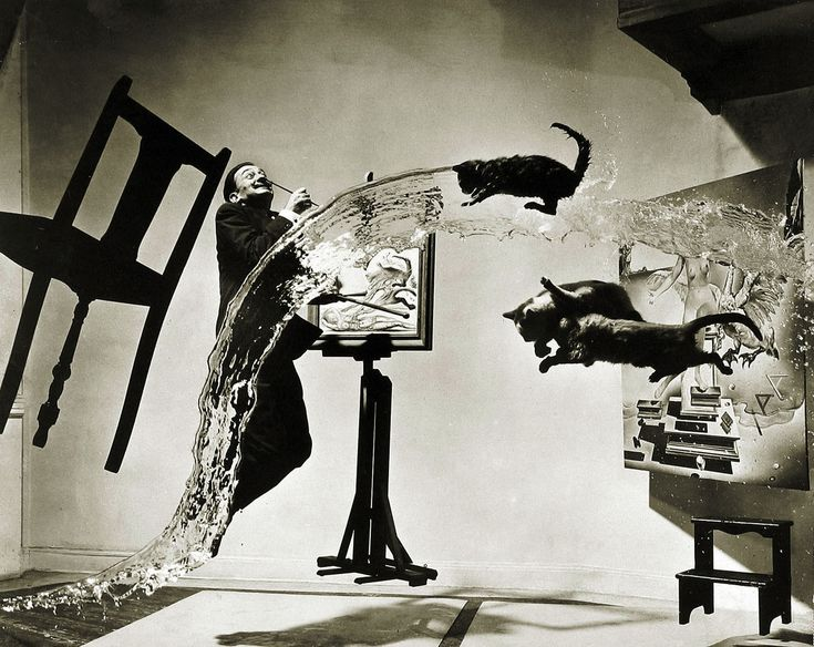 The Dali Atomicus, photo by Philippe Halsman (1948)