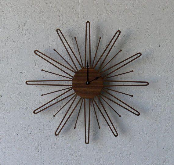 Mid Century Modern Inspired Clock