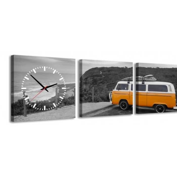 Zegar ścienny - obraz 4MyArt Camper 105 x 35cm ◾ ◾ PrezentBox
