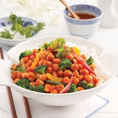 Pois chiches Général Tao et légumes - Recettes - Cuisine et nutrition - Pratico Pratique