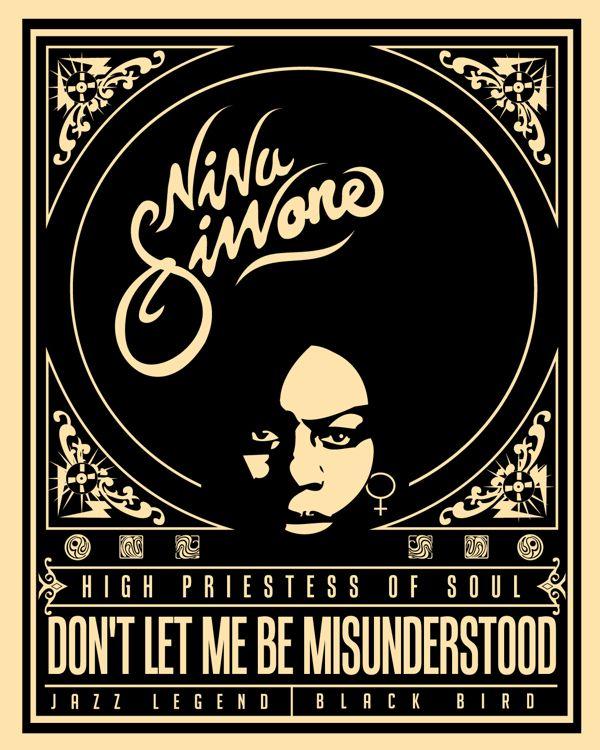 Nina Simone-Jazz legend Poster