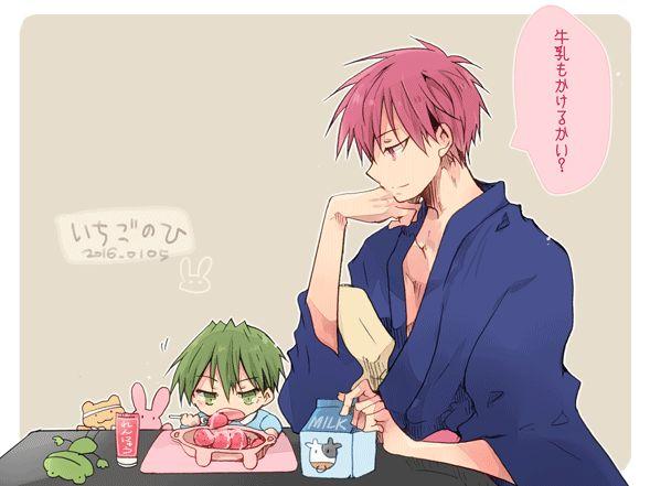 akashi & baby midorima
