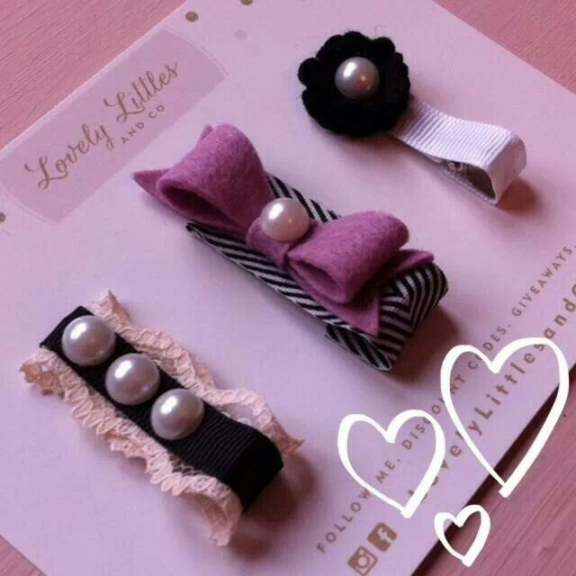 Beautiful and unique handmade hair clips for little girls from Lovely Littles and Co.