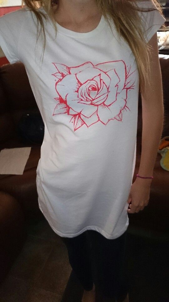 Tshirt dresses with the Red rose print only available at Artrehab.org
