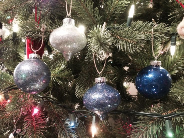 Glitter ornaments, Pinterest success thanks to @lemorrison2583 ! November 2014