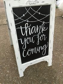 Wedding Chalkboard Signs. Thank you for coming sign