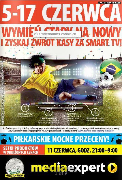 Nowa gazetka Media Expert kusi atrakcyjnymi cenami telewizorów (i nie tylko), tuż przed MS w piłce nożnej. http://www.promocyjni.pl/gazetki/16763-wymien-stary-na-nowy--gazetka-promocyjna