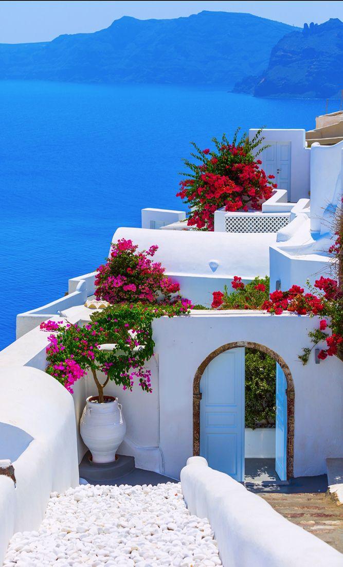 Santorini island, #Greece  Mar mediterraneo