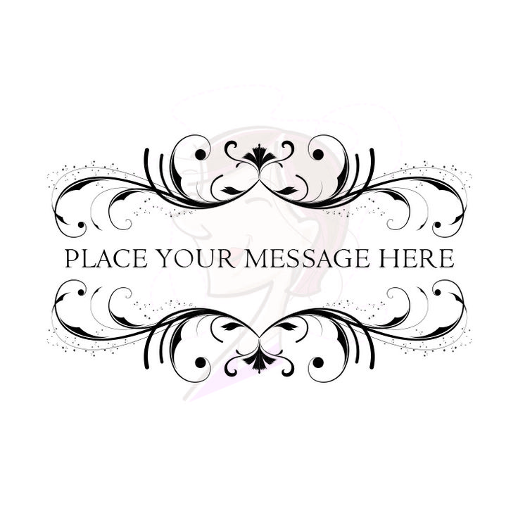 Flourish Border Clipart Digital Frame Baroque Rococo ...