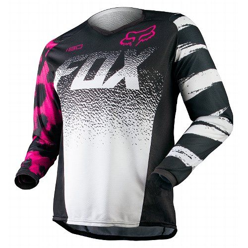 Black/Pink Fox Racing Jersey