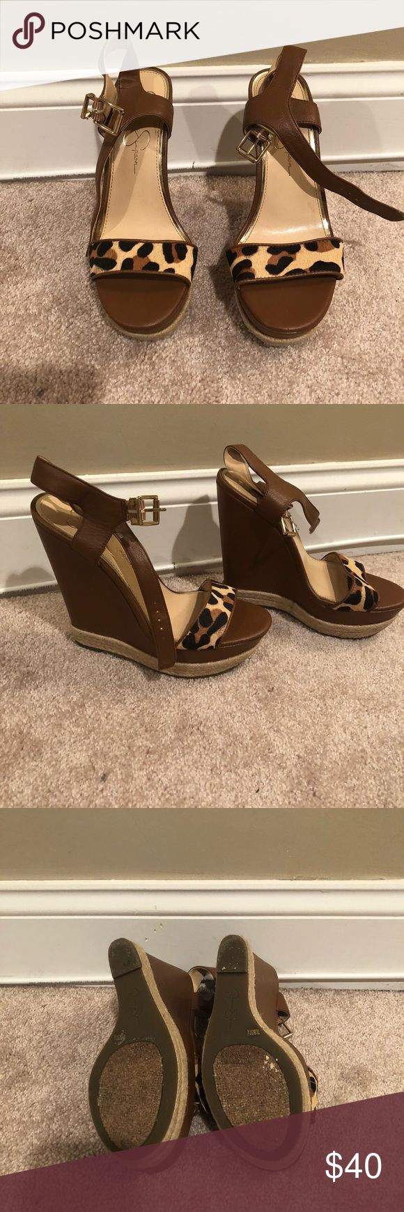Jessica Simpson Wedges Jessica Simpson wedges, great condition, worn once, size 7.5 Jessica Simpson Shoes Wedges