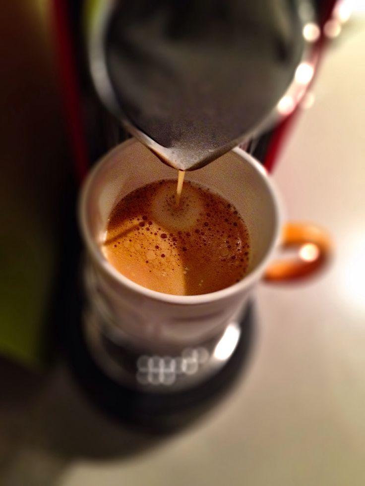 Guten Morgen…bei einem regnerischen Sonntag geht mit einem #Arpeggio #Kaffee von @Nespresso die Sonne auf.