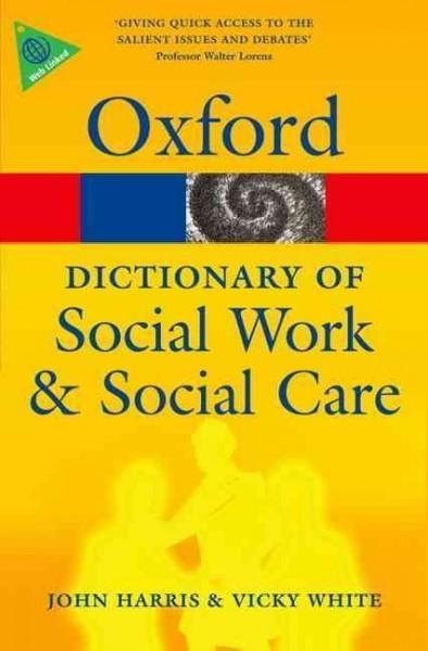 This new dictionary provides over 1,500 alphabetically arranged definitions of terms from the field of social care, concentrating on social work as a significant area within this field. Covering socia