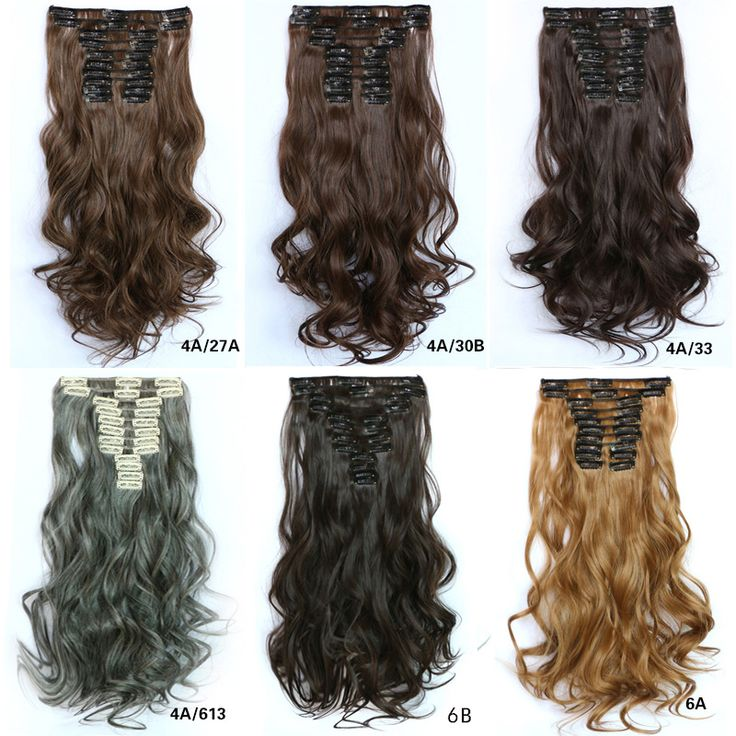 Women 12 Pieces Curly Clip Hair Extension,55cm long Hair Weft