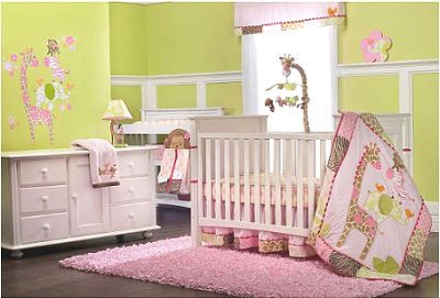 Pink Giraffe Baby Bedding Set Carter S Jungle Jill With