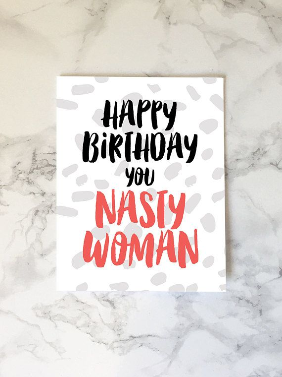 Nasty birthday cards for her