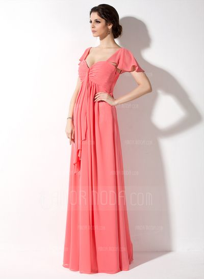 Maternity+Bridesmaid+Dresses+-+$135.99+-+Empire+Sweetheart+Floor-Length+Chiffon+Chiffon+Maternity+Bridesmaid+Dress+With+Cascading+Ruffles+(045022461)+http://hochzeitstore.com/Empire-Sweetheart-Floor-length-Chiffon-Chiffon-Maternity-Bridesmaid-Dress-With-Cascading-Ruffles-045022461-g22461