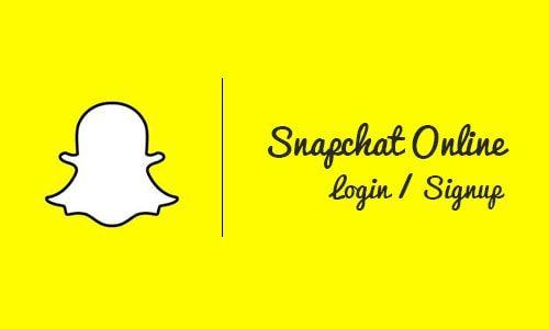 Snapchat Online Login Web - Account Snapchat Login Sign Up