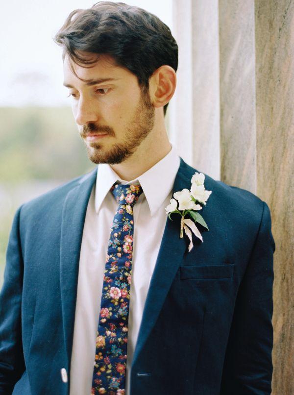Floral Tie for groom and groomsmen.