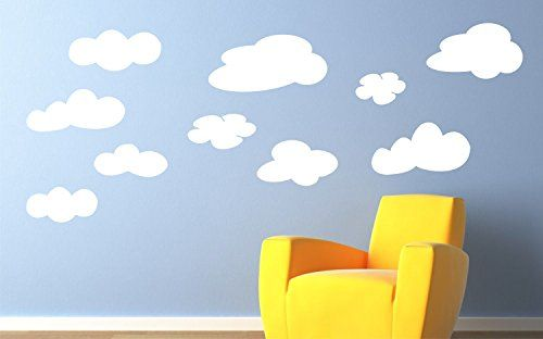 Pack of Cloud Wall Decals Playroom Wall Sticker Nursery W... https://www.amazon.com/dp/B01D0W8SJO/ref=cm_sw_r_pi_dp_x_QcjLybTB9NZ3F