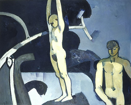 Landscape with Two Bathers (The Diver), Keith Vaughan
