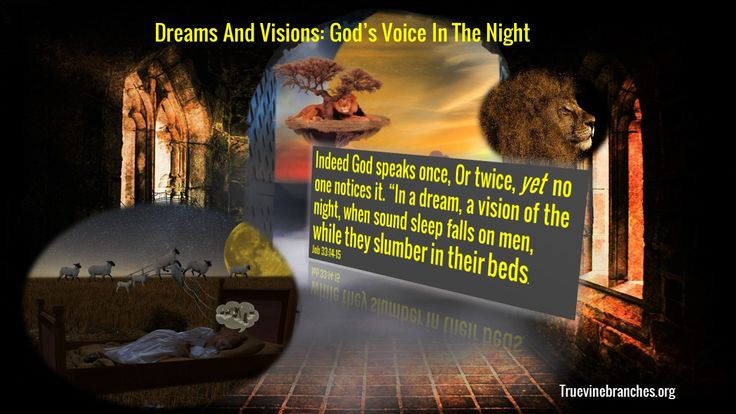 Dreams and Visions: God's voice in the night | Indeed God speaks once, or twice, yet no one notices it: In a dream, a vision of the night, when sound sleep falls on men while they slumber in their beds | Biblical Dream Interpretation | http://www.truevinebranches.org/blog/dreams-visions-gods-voice-in-night