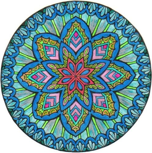Mystical Mandalas Coloring Book P