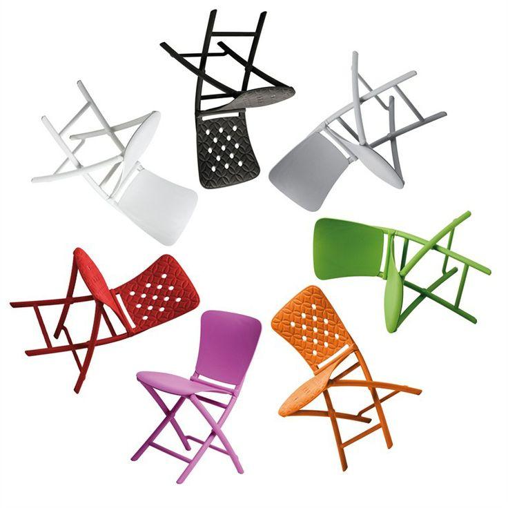 Set pieghevole di tavolo e sedie per esterni ZIC ZAC - Nardi: Nardi_Zac_ palette colori