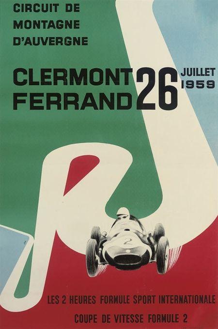 pinterest.com/fra411 #vintage #car #poster - Coupe de vitesse Formule 2, 1959 ::