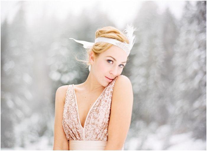 blush winter bride