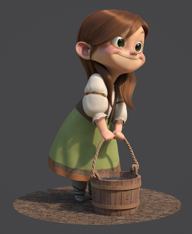 Gretel, Guzz Soares on ArtStation at https://www.artstation.com/artwork/R6rPD