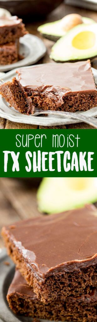 Super Moist Texas Sheetcake made with avocados!! #ad