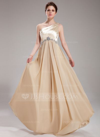 Prom Dresses - $132.99 - A-Line/Princess One-Shoulder Floor-Length Chiffon Charmeuse Prom Dress With Ruffle Beading (018004859) http://jjshouse.com/A-Line-Princess-One-Shoulder-Floor-Length-Chiffon-Charmeuse-Prom-Dress-With-Ruffle-Beading-018004859-g4859?ver=xdegc7h0