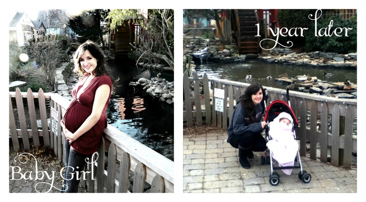 Take a  picture in the same location as your 9 Month Maternity Shoot for you Baby's First Birthday!
