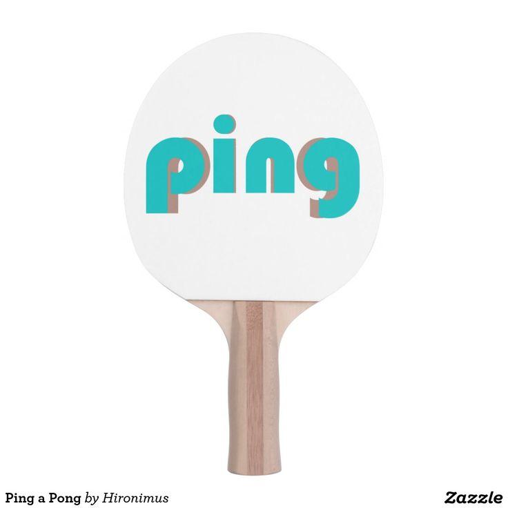 Ping a Pong Ping-Pong Paddle