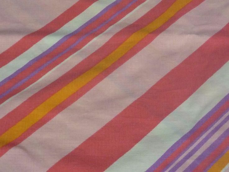 vtg fieldcrest diagonal stripe pillowcase pink vintage case shamspillow coversretro vintage