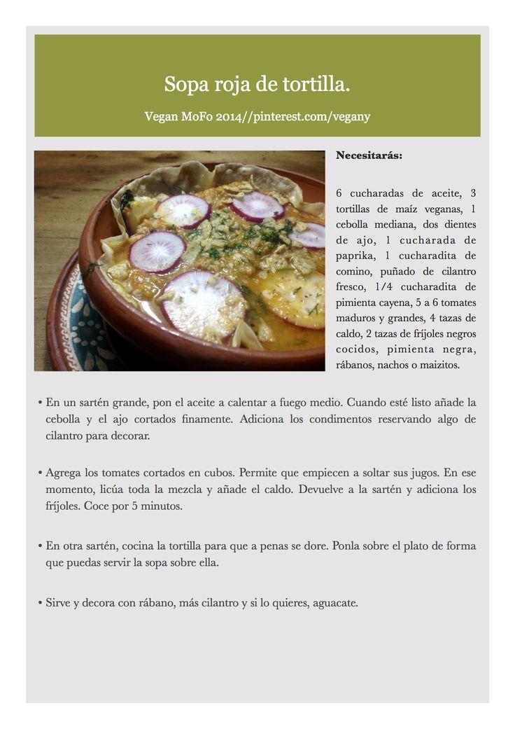 Día 24 del VeganMoFo: Sopa de Tortilla.