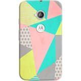 Phone Case: (Moto E 2nd Generation) Geometric Pastel | DailyObjects