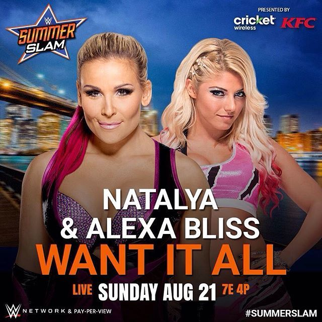 @natbynature and @alexa_bliss_wwe_ are bringing BLISS and HART to #SummerSlam on…