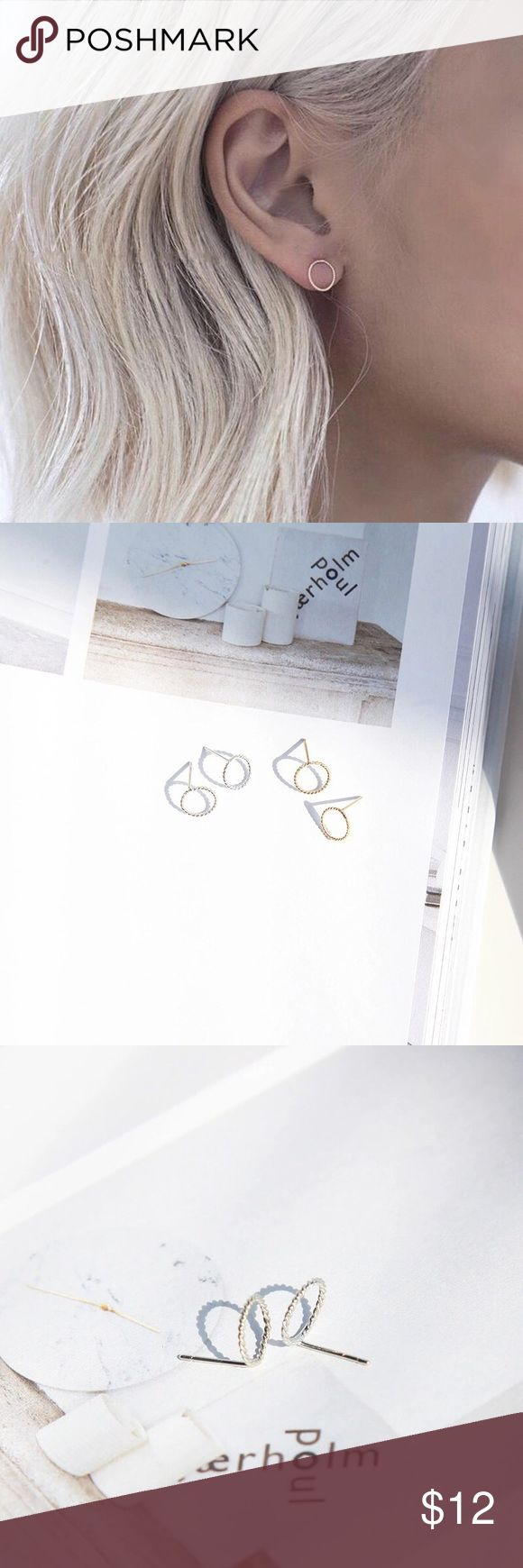 Silver circle earring Minimalism, chic and simple. Diameter 8mm Jewelry Earrings