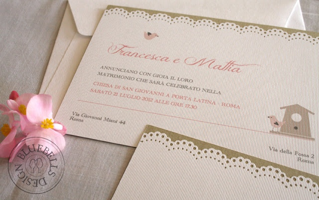 "BluebellsDesign: ""country chic"" wedding stationery"