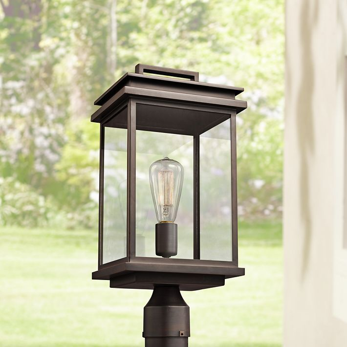 Feiss Chappman 16 3 4 H Antique Bronze Outdoor Post Light