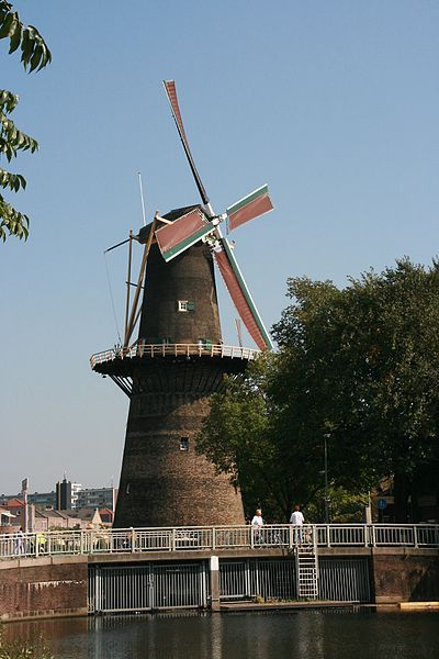 De Noord (English: The North) is the tallest windmill in the world. It is saturated in Schiedam, Netherlands.