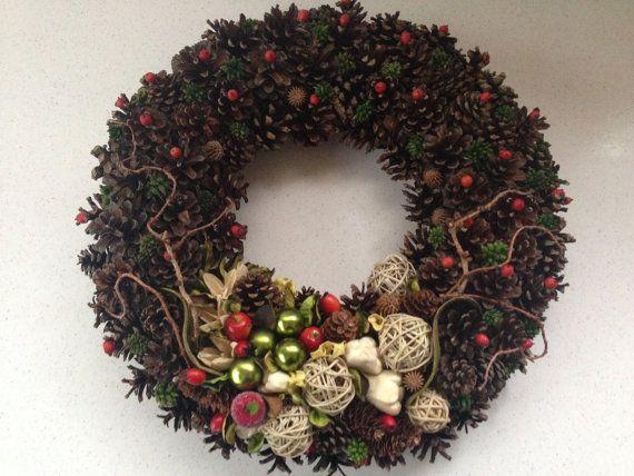 Seasonal Wreath Christmas Wreath Natural Wreath by JuraDeco