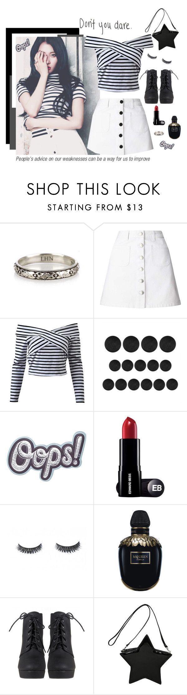 """""""Get the look (Sunmi)"""" by gisfriends ❤ liked on Polyvore featuring Miss Selfridge, Anya Hindmarch, Alexander McQueen and vintage"""
